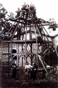 Officina Bordoni - Ponte a Poppi - costruzione della Croce