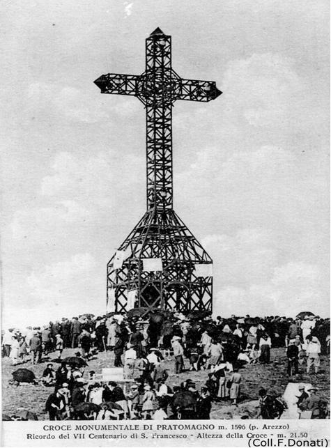 Inaugurazione della Croce del Pratomagno 2 settembre 1928