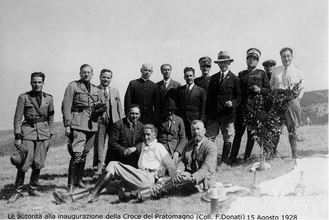 Le autorita alla inaugurazione della Croce del Pratomagno - Coll. F.Donati - 15 Agosto 1928